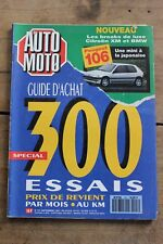 Auto Moto - N°107 - 1991 - Guide Achat - Peugeot 106 - Breaks de luxe XM BMW