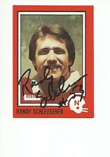RANDY SCHLEUSENER Autographed Signed 1989 Leesley card Nebraska Cornhuskers COA