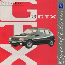 Peugeot 205 gtx limited edition 1993 marché du royaume-uni rabattable sales brochure