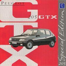 Peugeot 205 GTX Limited Edition 1993 UK Market Foldout Sales Brochure