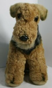 Vintage Aurora Plush Airedale Fox Terrier 1996 Classic Stuffed Animal 12 Inches