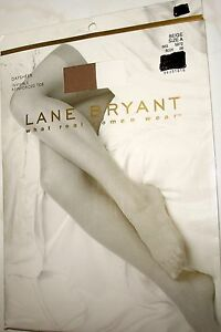 NEW - LANE BRYANT - BEIGE - DAYSHEER PANTYHOSE - INVISIBLE REINFORCED TOE - A