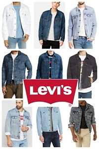 Levis Men's Trucker Jacket Denim Cotton Button Front Denim Trucker Jacket
