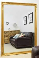 Large Wall Mirror Extra Antique Styled Gold 6Ft7 X 4Ft7 201cm X 140cm