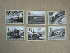 Great British Railways 2010, 6 x PHQ Stamp Cards, FDI Special H/S Back