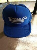 CONRAIL RAILROAD Vintage Foam Hat Dearborn Division Snap Back Adjustable