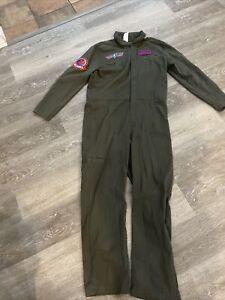 Top Gun Flight Suit Adult Costume Maverick Tom Cruise Size Medium Spirit