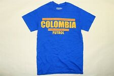 STITCHES Men's National Soccer Team Colombia Futbol T Shirt BLUE Small