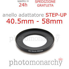Anello STEP-UP adattatore da 40.5mm a 58mm filtro - STEP UP adapter ring 40.5 58