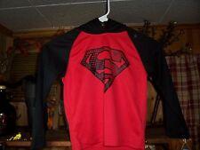 SUPERMAN HOODIE PULLOVER SHIRT SIZE XS 4-5 KIDS SUPERHERO APPAREL CASUAL SHIRT