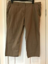 Marks and Spencer Cropped Trousers Stone Size 18 Chino Style