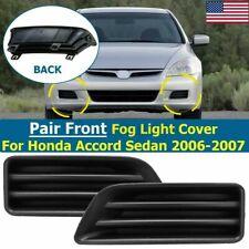 2X Front Bumper Fog Light Lamps Cover Bezel For Honda Accord Sedan 2006-2007