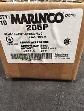 NEMA L5-20P New Marinco 205P Twist Locking Plug 125Vac 20A Pack Of 10