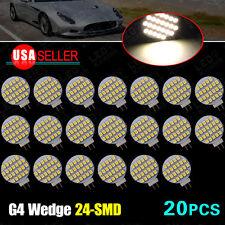 20X 4000K Warm White G4 24 SMD Car Auto Marine Home Marine LED Light Bulb 12V DC