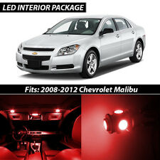 2008-2012 Chevrolet Malibu Red Interior LED Lights Package Kit
