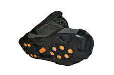 Snow and Ice Grips, 10 Studs Over Shoe For Natural Walking Style  (large)