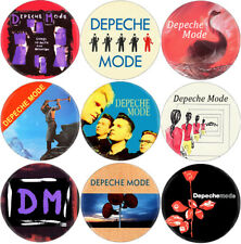 Depeche Mode - Lot of 9 badges (spille,buttons, New Order, Ultravox, Bowie)