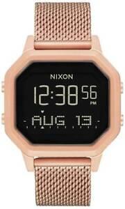 Nixon Siren Milanese Watch - All Rose Gold - New