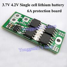 Single Cell 6A 3.7V 4.2V Li-ion Lithium 18650 14450 Battery Protection PCB 1S