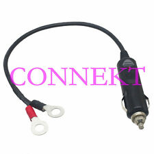 Car Cigarette Lighter Male Socket to 8mm Ring Terminals Battery charger cable