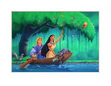Disney's Pocahontas original painting for puzzle & package cover