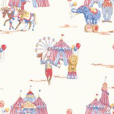 CIRCUS FUN Big Top Animal GLITTER Boys Bedroom - Red & Blue - 696001 - Arthouse