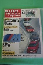 AMS 25/86 * BMW M3 M1 M 535 M5 M 635 Alpina B7 Turbo Mercedes 190 E 2.6 BMW 325i