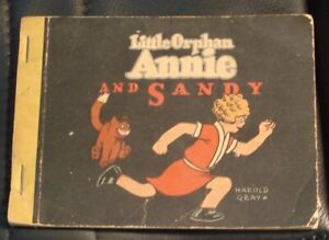 1933 LITTLE ORPHAN ANNIE and SANDY * ILLUSTRATED COMICS * WHITMAN * SCARCE BOOK