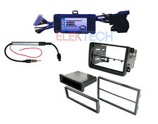 Radio Replacement Interface with Double DIN Dash Mounting Kit for Volkswagen