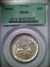 1946 Iowa Half Dollar PCGS MS66 OGH