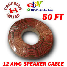 50 FT 15m High Definition 12 Gauge 12 AWG Speaker Wire Cable Home Theater HDTV