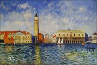 Hand Painted Oil Painting Repro Renoir Pierre Doges Palace Venice 24x36in
