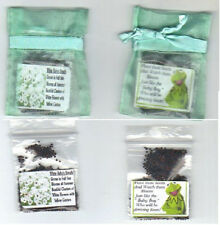 """BABY FAVORS """"BOY"""" MINT GREEN 25 KERMIT THE FROG WITH BABY'S BREATH SEEDS + POEM"""