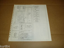 1978 Ford F600 F700 F800 Cab/Cowl wiring diagram schematic SHEET service manual