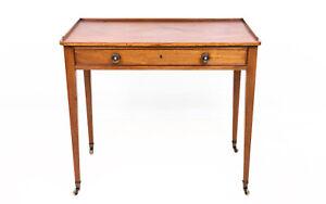 English Antique Mahogany 19th Century Side Table Writing Desk