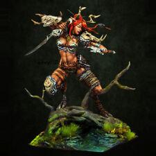 1/24 Scale Unpainted Magic Female Warrior Garage Kit Resin Figure Model Statue