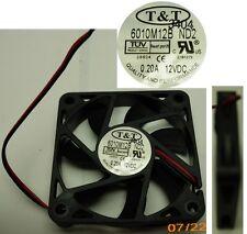 NEW Ball Bearing 60mm*10mm T&T 6010M12B-ND2 12VDC/12V/9V Fan/Cooler 2wire 6010