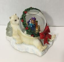 Three Jays Imports Polar Bear Christmas Snow Globe