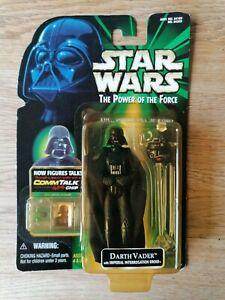 Star Wars POWER OF THE FORCE Hasbro Darth Vader commtalk chip (damaged) RARE