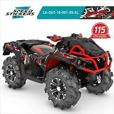 CAN AM OUTLANDER XMR ATV STICKERS AND GRAPHICS EXTRA COVERAGE+ FREE GIFT