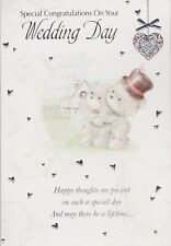 Wedding Day Greeting Card ~ Congratulations On Your Wedding Day