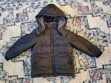 Calvin Klein Boys Toddler Kids Black Hooded Winter Jacket Coat Sz 4T
