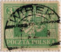 "POLOGNE / POLAND - UPPER SILESIA 1922 "" WIREK "" date stamp on Mi.10 3Mk p.13-1/2"