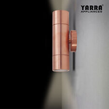 Solid Copper Exterior Cylinder Wall Light 2XGU10 Up Down IP65