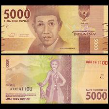 Indonesia 5000 Rupiah, 2016, P-NEW, AAA Prefix banknote, UNC>New Design