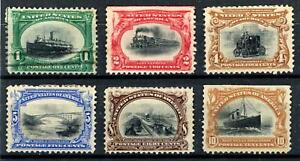 USA 1901 Pan-American Exposition 1c Used others Mint no gum SG 300/305 Cat £470+