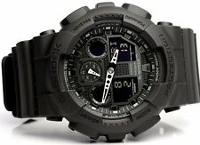 New Casio GSHOCK BLACK OPS Analog XLARGE BLACK GA100-1A1 Watch NWT
