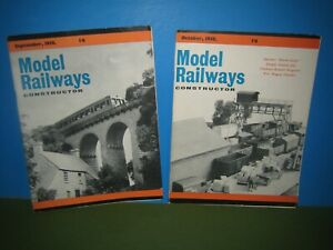 MODEL RAILWAY CONSTRUCTOR - 2no SEPTEMBER & OCTOBER 1958 > VGC VINTAGE SEE PIC'S