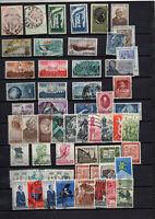 55 Timbres Italie entre 1954 et 1958