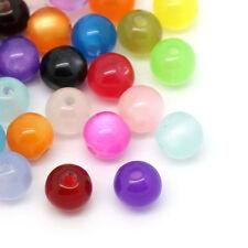 500 HOT Moda Misto Distanziatori Perle Perline Sfere in Resina 6mm Dia.